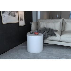 Puf - mesa blanco