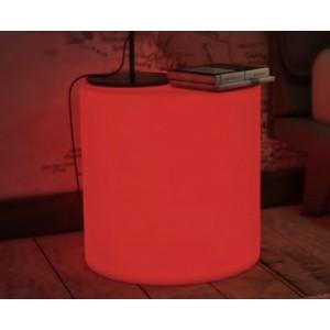 Puf-mesa sundara iluminada RGB