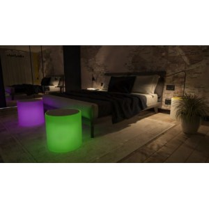 Pongotodo-mesa sundara iluminada RGB