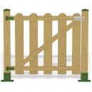 Puerta valla madera